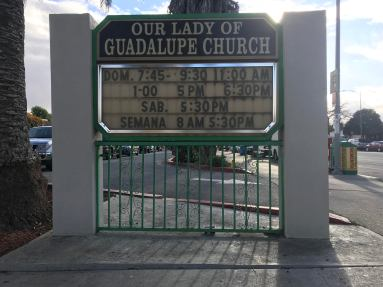 Our Lady of Guadalupe Church Sign