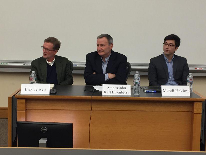Ambassador Karl Eikenberry, with Erik Jensen and Mehdi Hakimi