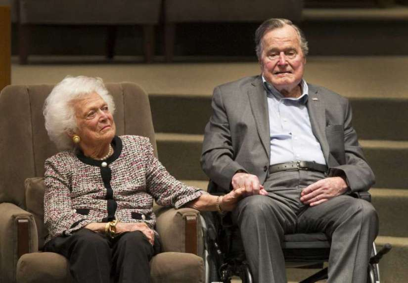 Barbara Bush with President George Bush March 2017