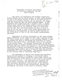 Operation Paperclip Declassified File Document Page 1
