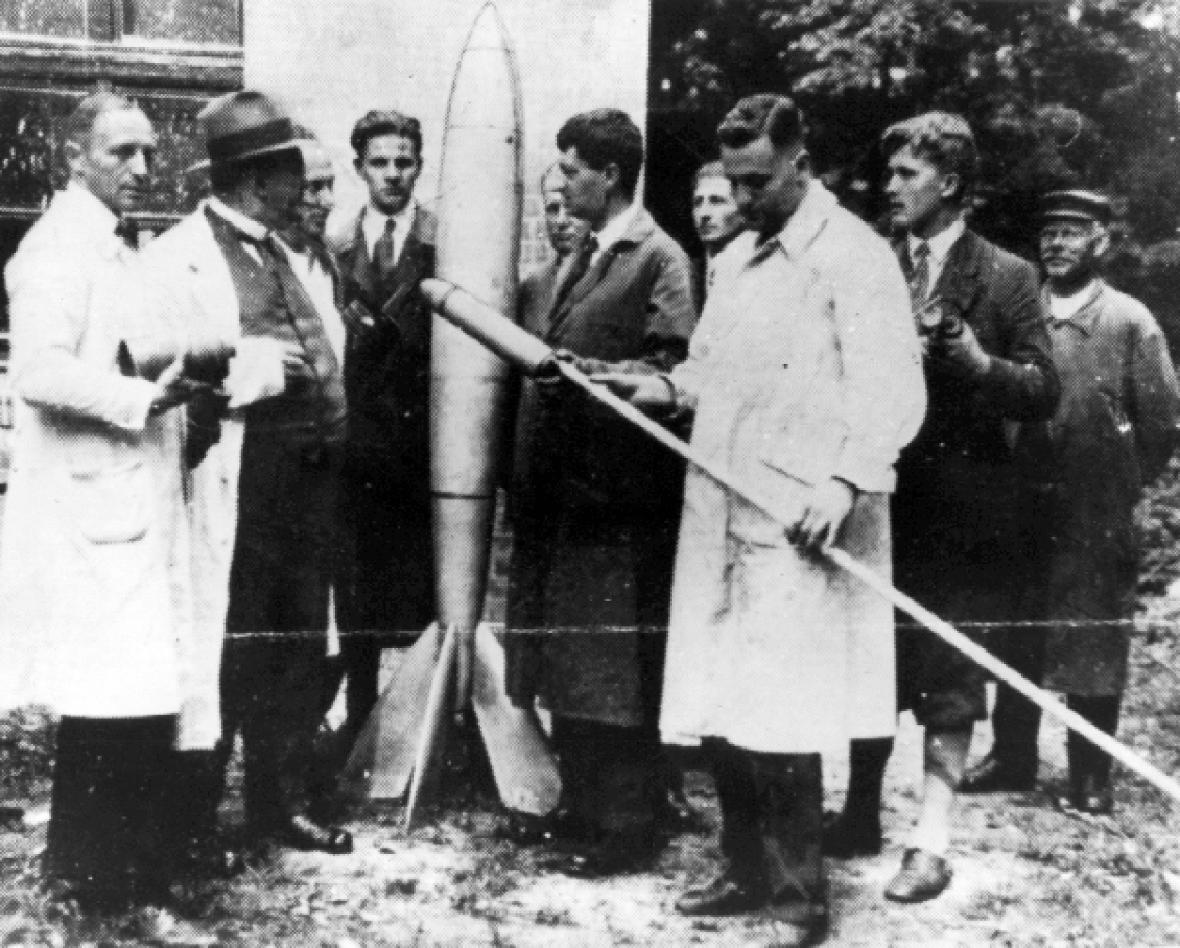 Wernher Von Braun Rocket Experiment In Duetchland